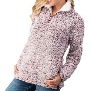 Love Tree Sherpa 1/4 Zip Pullover Fleece Zip